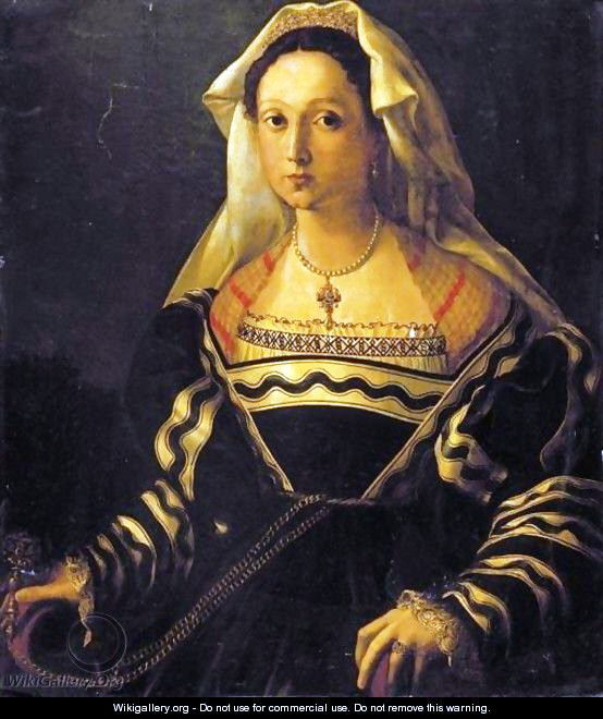 Portrait Of A Noblewoman, Said To Be Vittoria Colonna Florentinische Schule