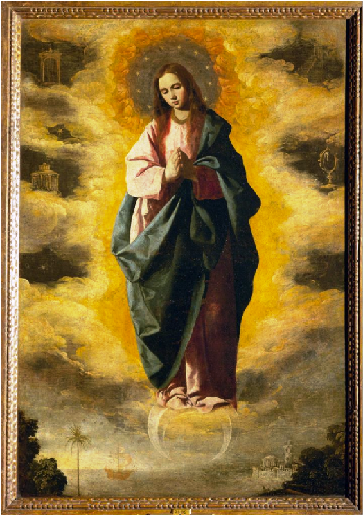Virgin of Immaculate Conception. Zurbaran. 1635. Madrid, Prado